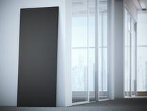 Faire de la publicité le support dans l'intérieur lumineux de bureau rendu 3d Image stock