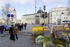 Faire de Spting à Vilnius, Lithuanie Photos libres de droits