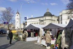 Faire de Spting à Vilnius, Lithuanie Images libres de droits
