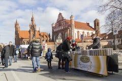 Faire de Spting à Vilnius, Lithuanie Photographie stock