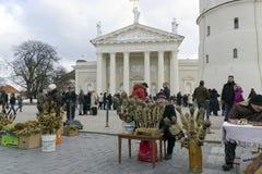 Faire de Spting à Vilnius, Lithuanie Photo libre de droits