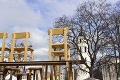 Faire de Spting em Vilnius, Lithuania Imagem de Stock