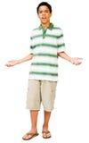 faire des gestes de garçon d'adolescent Photo libre de droits
