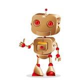 Faire des gestes mignon de robot illustration libre de droits