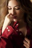 Faire des gestes sensuel Image libre de droits
