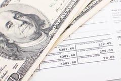 Faire des impôts Images stock