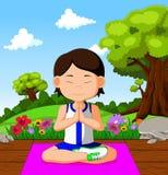 faire des jeunes de yoga de fille illustration de vecteur