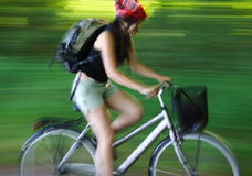 Faire du vélo Photographie stock libre de droits