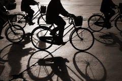 Faire du vélo dans bejing Images libres de droits