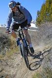 Faire du vélo de montagne Photos stock