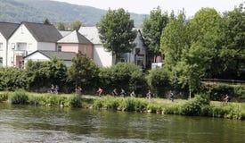 Faire du vélo de pays de vin de l'Allemagne Photo libre de droits