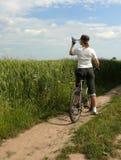 Faire du vélo : une goutte de l'eau Image stock
