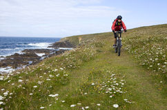 Faire du vélo en Bretagne Photographie stock
