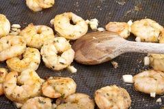 Faire frire des crevettes Image stock