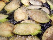 Faire frire l'aubergine Photo stock