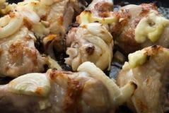Faire frire la viande de poulet Photographie stock