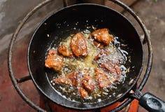 Faire frire la viande sèche Image stock