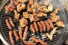 Faire frire le gril de viande   Image libre de droits