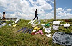 Faire la blanchisserie au Madagascar Photographie stock