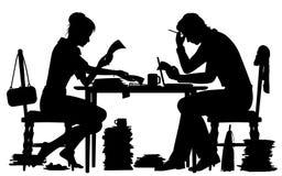 Faire la silhouette d'écritures Image libre de droits