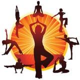 faire le yoga de femme Images stock