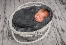 Faire une sieste infantile innocent dans le berceau Photos libres de droits