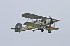 Fairey Swordfish przy Biggin wzgórzem Airshow zdjęcie royalty free