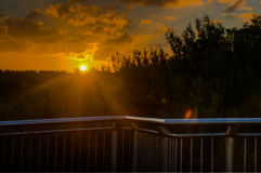 Fairfax-Ausblick-Sonnenuntergang Stockbild