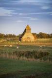 Fairfield Church and Sheep on Romney Marsh Stock Photos