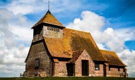 Fairfield-Kirche, Romney Marsh stockfotos