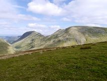 Fairfield, St. Sunday Crag ridge, Lake District Royalty Free Stock Photo