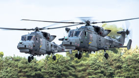 FAIRFORD, UK - JULY 10: Lynx Helicopter participates in the Royal International Air Tattoo Air show event July 10, 2016 Royalty Free Stock Image