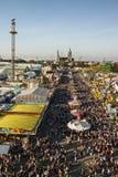 Fairgound de Oktoberfest en Munich, Alemania, 2016 imagen de archivo libre de regalías