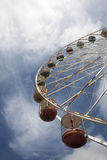 Fairground. Big wheel fairground ride on the pier at Blackpool Stock Images
