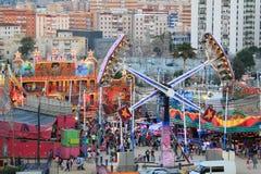 Fairground in Algeciras, Spain. The summer fair of Algeciras (Feria Real 2013 ), Algeciras fairground on June 20, 2013 in Algeciras, Andalusia Spain Royalty Free Stock Photo