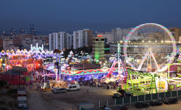 Fairground in Algeciras, Spain Royalty Free Stock Photo