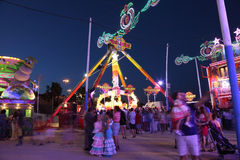 Fairground in Algeciras, Spain Stock Photography