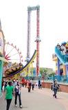 Fairground area stock photo