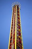Fairground attraction. Tower of a fairground attraction Royalty Free Stock Images