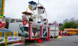 Fairground Attraction. Fairground  attractions at the Blackburn Easter fair Royalty Free Stock Image