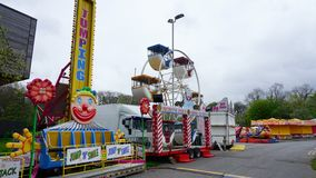 Fairground Attraction. Fairground  attractions at the Blackburn Easter fair Stock Photo