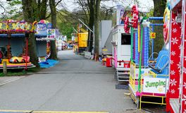 Fairground Attraction. Fairground  attractions at the Blackburn Easter fair Stock Image