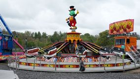 Fairground Attraction. Fairground bounce attraction at the Blackburn Easter fair Stock Photo