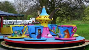 Fairground Attraction. Fairground cup and saucer  attraction at the Blackburn Easter fair Royalty Free Stock Photography