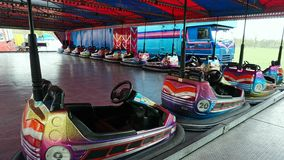 Fairground Attraction. Fairground dodgem cars attraction at the Blackburn Easter fair Stock Images
