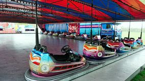 Fairground Attraction. Fairground dodgem cars attraction at the Blackburn Easter fair Royalty Free Stock Images