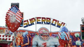 Fairground Attraction. Fairground superbowl  attraction at the Blackburn Easter fair Stock Photo