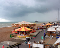 Fairground at Brighton seafront Stock Photography