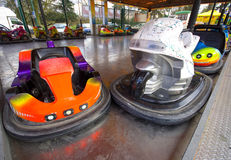 Fairground bumper car for little childrens Royalty Free Stock Image