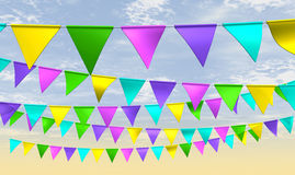 Fairground Bunting Front Stock Photo